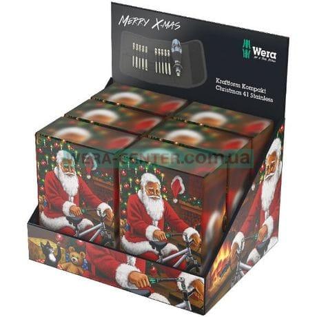 Викрутка WERA Kraftform Kompakt Christmas Stainless, 05136092001